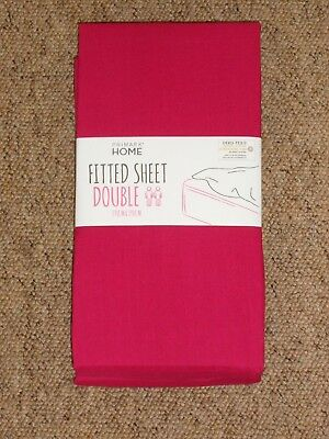 New Primark Fitted Double Size Sheet, What Size Is A Double Bed Sheet In Inches