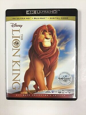 The Lion King, 4K Ultra HD, & Digital, NO BLU-RAY INCLUDED, Like New!!!