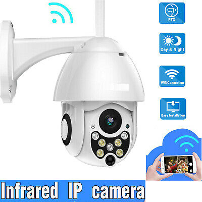 Outdoor Waterproof WiFi PTZ Pan Tilt 1080P HD Security IP IR Camera Night Vision