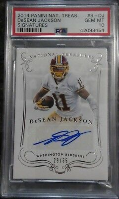 2014 Panini National Treasures DeSean Jackson Auto #29/35 PSA 10 POP 1/1