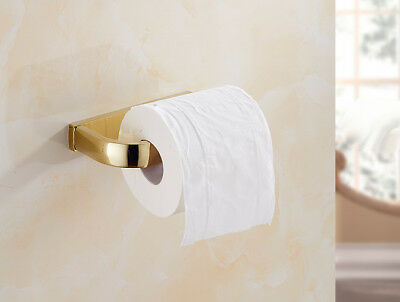 Luxury Gold Color Brass Wall Mounted Bathroom Toilet Paper Roll Holder mba848