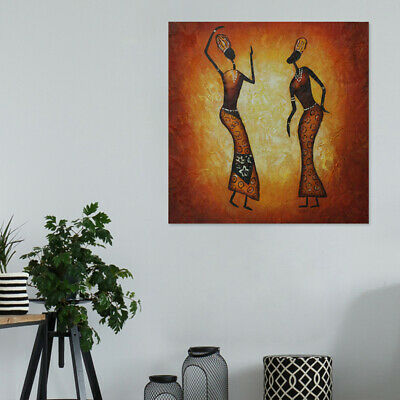 Modern Abstract Hand Painted Art Oil Painting Home Decor Canvas Framed Dancer