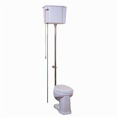 Barclay Victoria High Tank Pull Chain Toilet with Brushed Nickel Hardware