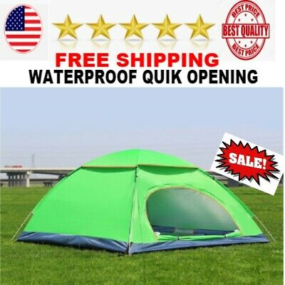 BEST Outdoor 4 Persons Camping Tent instant Open Beach tents Ultralight NEW
