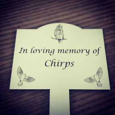 Pet Memorial personalised personalized Plaque Stake cat dog pet - grave marker