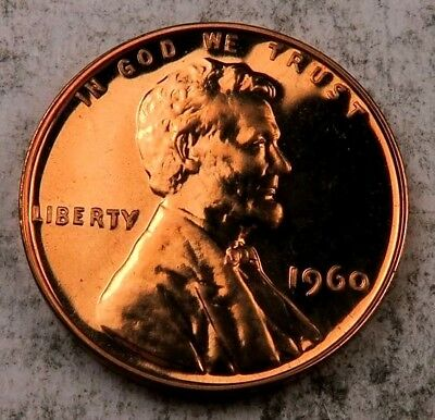 1960 *Small Date* Lincoln Memorial Penny // Gem Proof (RED) // 1 Coin.