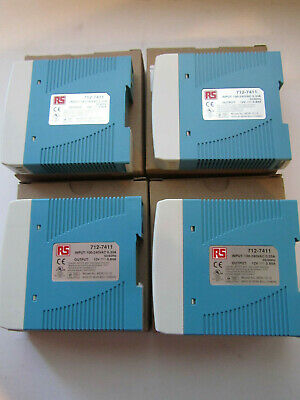 4 x MEAN WELL DIN RAIL PANEL MOUNT POWER SUPPLY NEW UNUSED