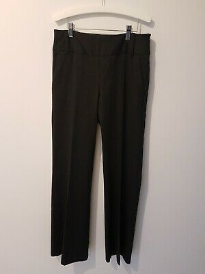 Cue Size 6 Charcoal Grey Pin Stripe Work Pants