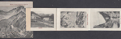1919 Postage Due Postcard Austria used in Poland;Ten pictures unfolding from PPC