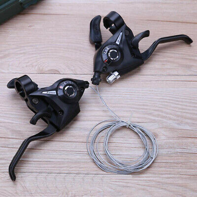 New 21 Speed Bike Shifter Brake Connected Derailleur MTB Mountain Bicycle Gear ~