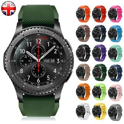 22mm Silicone Bracelet Strap Watch Band For Samsung Gear S3 Frontier/Classic UK