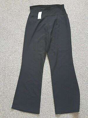 George maternity black stretch wide leg trousers size 14