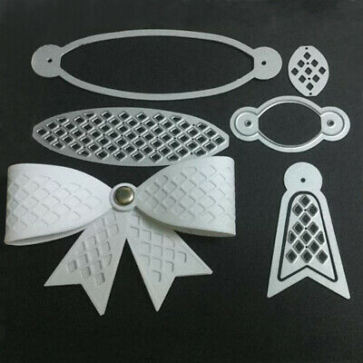 DIY Bowknot Cutting Dies Stencil Scrapbooking Album Stamp Paper Card Embossing