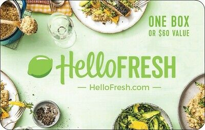 Get a $60 Hello Fresh Gift Card for only $50 -  Email delivery