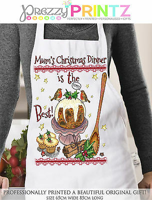 Personalised Apron Nan Womans Chef Kitchen Birthday Christmas Mothers Day Gift