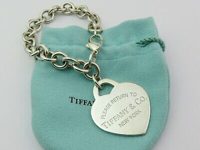 Authentic TIFFANY & CO Sterling Silver Return to Tiffany Large Heart Bracelet