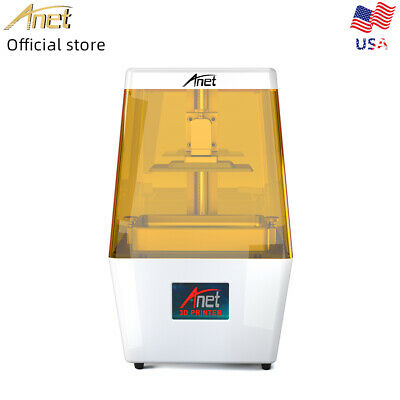 "Anet N4 3D Printer LCD SLA UV Light-Cure 45μm Precision Save 50% Resin 3.5"" TFT"