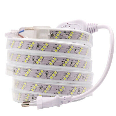 Three Row Led strip 220V 2835 180Leds/m Waterproof flexible rope lights newest