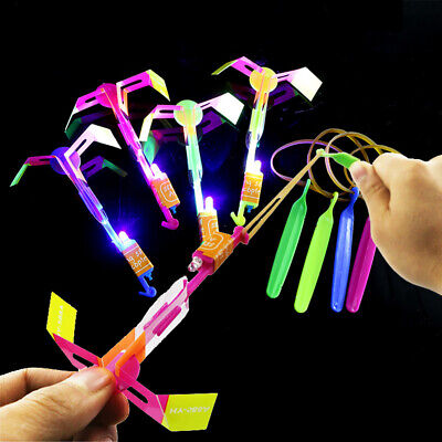 LED Glow Light Up Gadgets Flash Flying Dragonfly Night Party Kids Boy Funny Toys