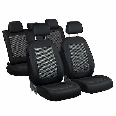 Schwarz-Graue Triangles Seat Covers for Nissan Sunny Car Seat Cover Complete