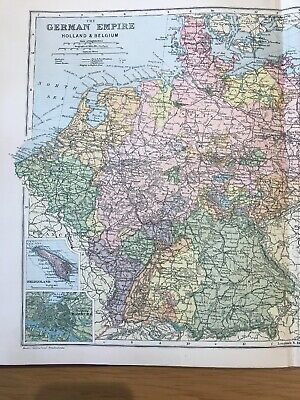 1897, Map of THE GERMAN EMPIRE, Bacon's Popular Atlas Of The World