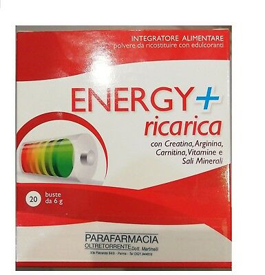Energy+ Ricarica-Integr. Aliment. Creatina Arginina Carnitina Vitamine Minerali