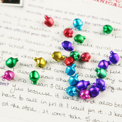 500PCS Mixed-color Small Charms Jingle Bells DIY Decoration For Jewelry Crafts k