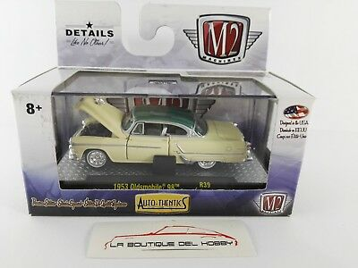 1953 oldsmobile 98 Coupe Gray//White *** m2 machines 1:64 OVP