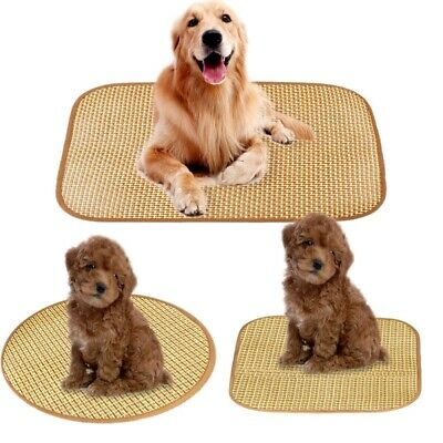 Indoor Chilly Mat Pet Dog Cat Bed Cool Gel Pad Viscose Fiber Mats