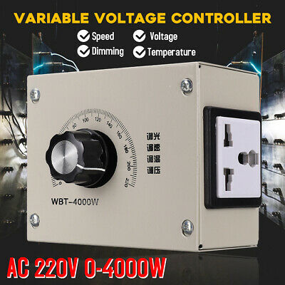 4000W Variable Voltage Controller For Thermostat Light Fan Speed Motor Dimmer