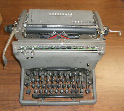 Vintage Underwood Typewriter with cover   - BWF