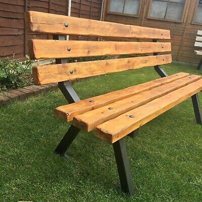 Enjoyable Bespoke Garden Picnic Bench With An Industrial Style And Beatyapartments Chair Design Images Beatyapartmentscom