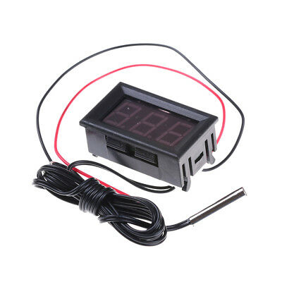 Red DC12V Digital Thermometer With Temp Probe -50~110C Temperature Detector Z0HW