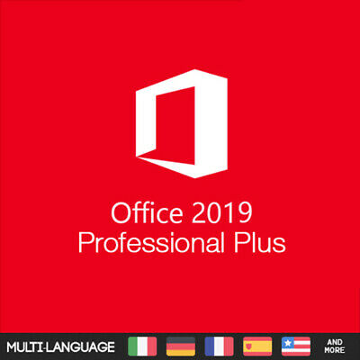 Office 2019 Professional Plus - Retail - Product Key Via Esd - Nuovo E Lifetime
