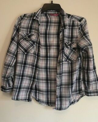 3 X Primark  9-10 Years Check Shirt Pink Top Girls Size Blue White Top Beige