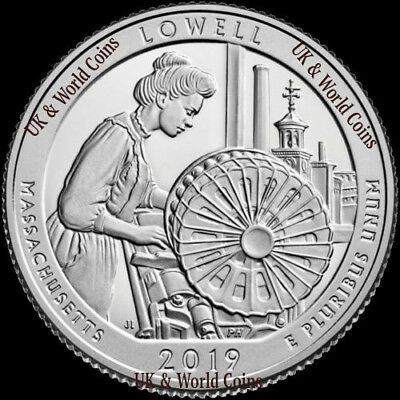 2019 P D S Lowell National Park Quarter Massachusetts BU ATB US Mint