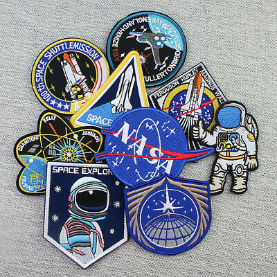 A set NASA Space Center Astronaut Program Embroidery Patch Badge Cosplay 13pcs