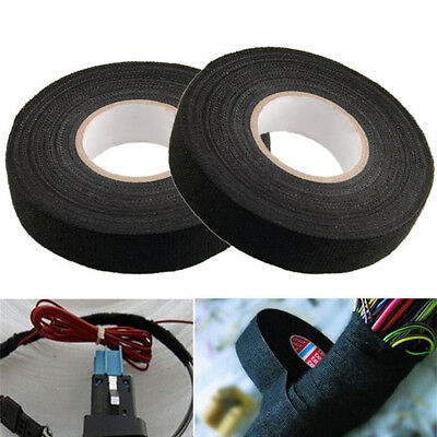 19mmx15M Looms Wiring Harness Cloth Fabric Tape Adhesive Cable Protection Jh