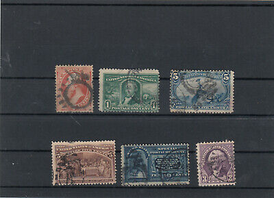 Small Lot Stamps U.S.A. / Amerika Nr.40, 77, 120,  154, 116, used