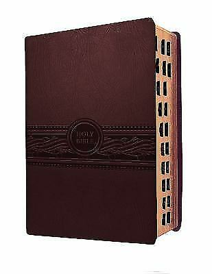 MEV Bible Personal Size Large Print Cherry Brown Indexed: Modern English .. NEW