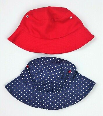 2 X PACK Girls M&S UPF 50+ Bucket Sun Hats Age 6-10 Years BNWT 2X PACK Comb Post