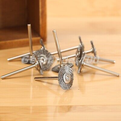 10x 22mm Steel Wire Wheel Brushes Polish Accessory Die Grinder Rotary Tools HQ