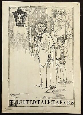 Arts & Crafts - Margaret Ely Webb Original 1907 Pen-and-Ink Book Illustration