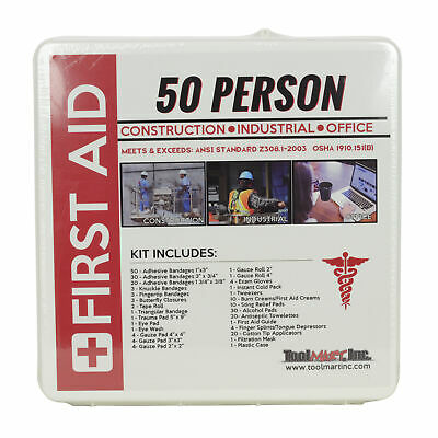 ToolMart FK5200 50 Person Hard Case Emergency First Aid Safety Kit OSHA ANSI