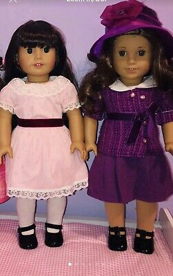 American Girl Samantha/'s HOLIDAY OUTFIT DRESS and TEATIME tea set doll NOT incl