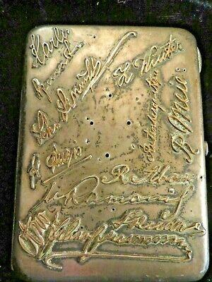Imperial Russian Cigarette Case Pre 1899 1/2 Lb Of Silver With Gold Monograms