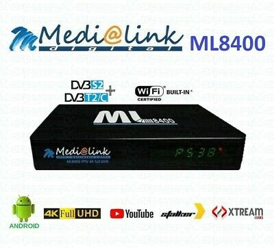 Medialink ML8400 4K H.265 Combo Android S2/T2/C decoder android