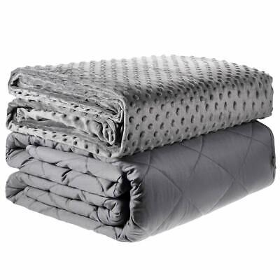 """Adult Weighted Blanket 48 x 72"""" / 60 x 80"""" Queen Twin Full with Optional Duvet"""