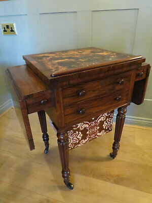 Gillows Stamped Rosewood Work & Writing Table C.1840
