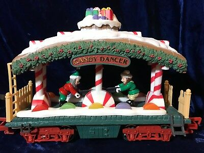 New Bright HOLIDAY EXPRESS CHRISTMAS TRAIN SET~G Scale~Animated CANDY DANCER CAR